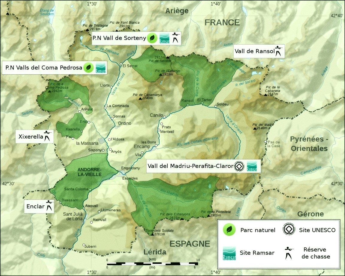 carte andorre france