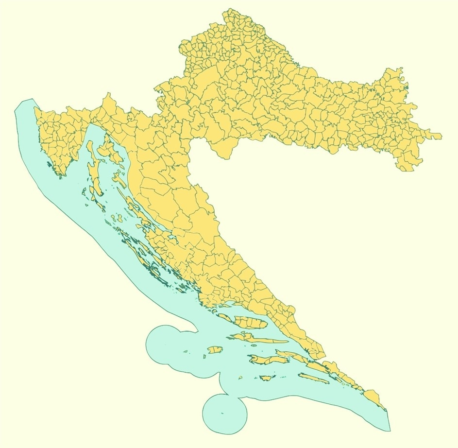 croatie carte europe